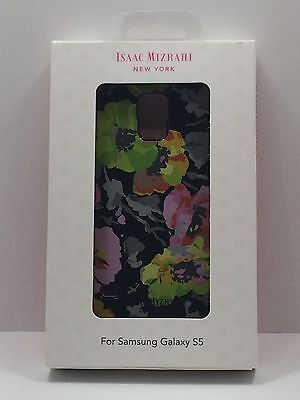 GENUINE Isaac Mizrahi New York Samsung Galaxy S5 S 5 Case FLOWERS BLACK CO8914U