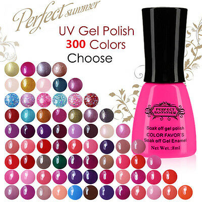 8ml Perfect Summer Gel Nail Polish Shiny Classic Color UV LED Manicure Tips New