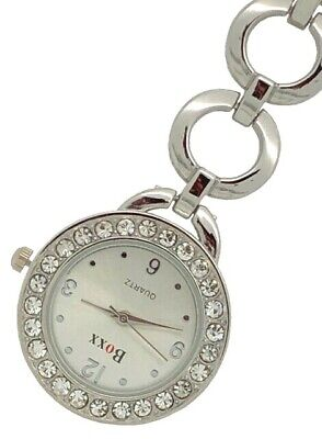 New Round Silver Diamante Nurse Beauticians Fob Watch by BOXX