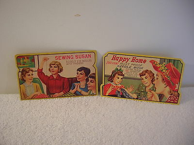 2 Vintage 1950's Needle Packs- Sewing Susan and Happy Home