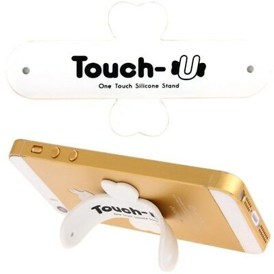 TECH White 100 PCS Touch-u One Touch Universal Silicone Stand Holder for iPhone