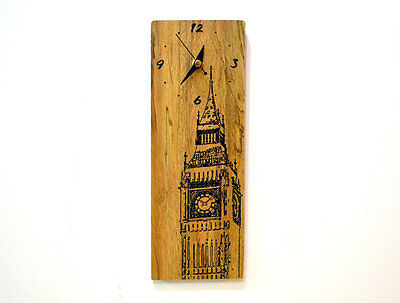 London Big Ben Engraved Wood - Wall Clock