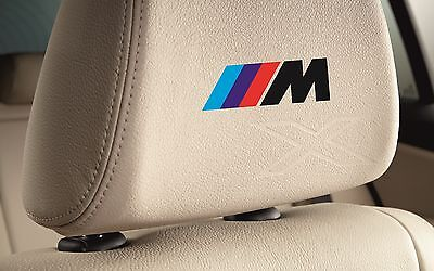5x BMW Black M-TECH Logo HEADREST Badges Stickers Decals Fit all Models M3 M5