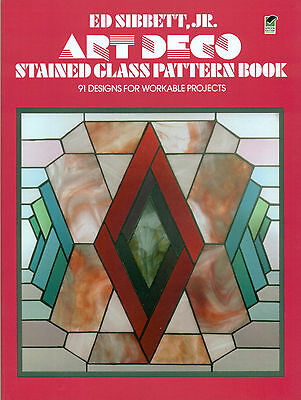 ART DECO stained glass pattern book, Books