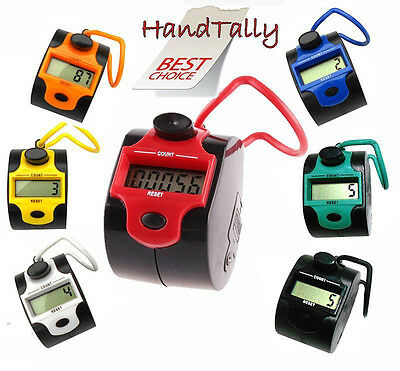 2 Tone 5 Digit Digital  LCD Electronic Hand  Tally Counter For Tasbeeh Golf Dock