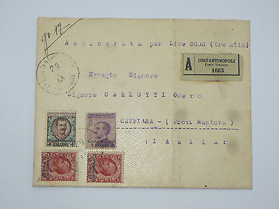Italia Italy occupation registered insured cover Constantinople Costantinopoli