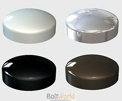 Plastic Dome Screw Cover Cap Chrome White Black Brown - Plastidome Caps