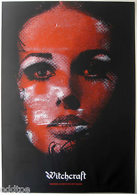 WITCHCRAFT- DANAVA - ORIGINAL CONCERT POSTER  signed/numbered by ZH, red face