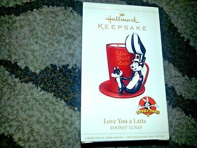 2006 HALLMARK Keepsake Ornament LOVE YOU A LATTE LOONEY TUNES Pepe Le Pew & Cat
