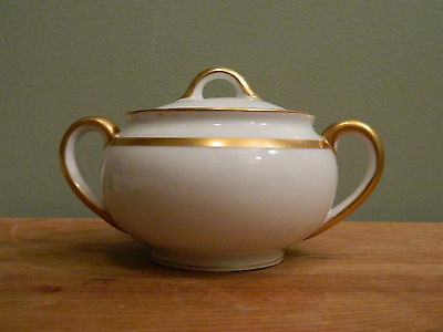 """Antique Hand Painted Nippon Noritake """"The Chaumont""""  Sugar Bowl with Lid"""