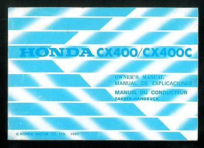 Manuel du Conducteur HONDA CX400 CX 400 C / Custom Owners Manual Fahrer Handbuch
