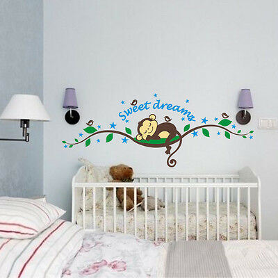 wandtattoo affe wand sticker wandaufkleber wand design dschungel kinderzimmer eur 9 85. Black Bedroom Furniture Sets. Home Design Ideas