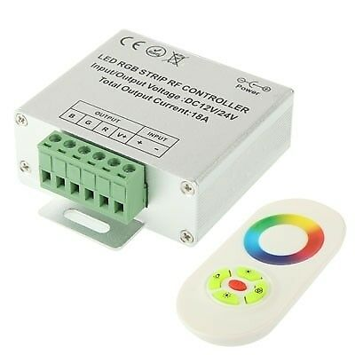 TECH RGB LED Controller with RF Touch Remote Controller for LED Strip Light, DC