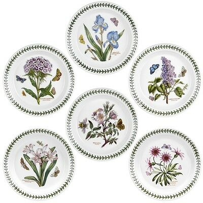 PORTMEIRION BOTANIC GARDEN SALAD PLATES SET OF 6, NEW IN BOX, FREE SHIPPING!