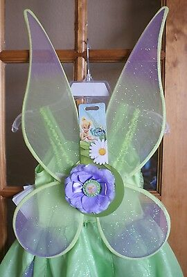 NWT Disney Fairies TINKERBELL Costume Dress with Wings Size L 10 NEW So Cute!