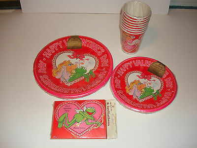 Vintage Muppets Hallmark Valentines Day Party Set Sealed Very Rare Kermit Henson