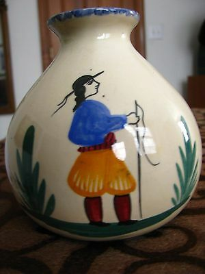 Antique/ Vintage Quimper Pottery French France Faience Vase. Marked NR!