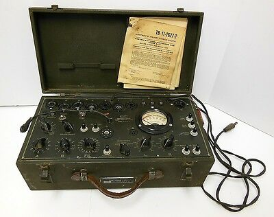 Military US Army Signal Corps Vacuum Tube Tester I-177 AS-IS Untested