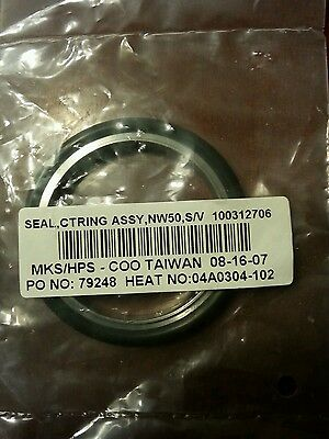 New- MKS/HPS Seal Centering Ring Assembly NW50 S/V 100312706 Free Shipping