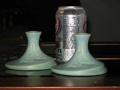 Roseville Silhouette Candle Holders 751-3