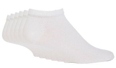 6 Pairs Unisex Ex chainstore Cotton Rich White Trainer Sports Socks see listing