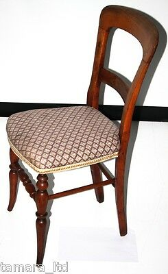 Antique Victorian mahogany Balloon Back Chair - FREE Shipping [PL689]