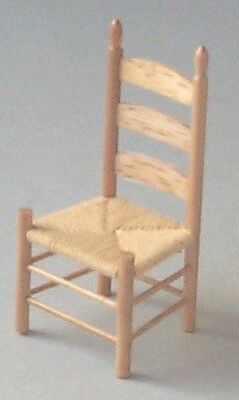 Dolls House Furniture: Light Wood Chair   in 12th scale