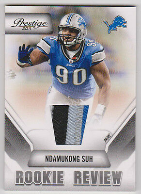 """NDAMUKONG SUH Lions 2011 Prestige """"Rookie Review"""" PRIME 4 COLOR Jersey SWEET"""