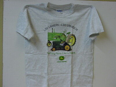 "John Deere ""like Grandpa - Like Grandson"" T-Shirt, New, Size 6-8"