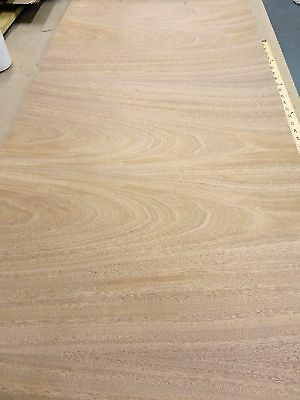 """Mahogany African wood veneer 48"""" x 24"""" on paper back (4' x 2' x 1/40th"""" thick"""