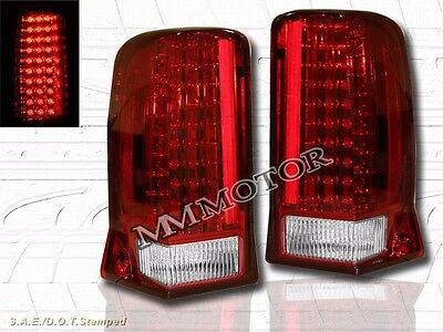 2002 2003 2004 2005-2006 Cadillac Escalade Red Led Tail Lights 03 04
