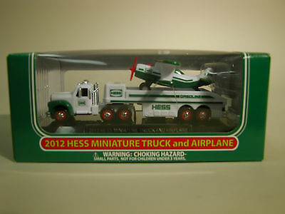 HESS 2012 MINIATURE TRUCK and AIRPLANE  MINT IN THE BOX