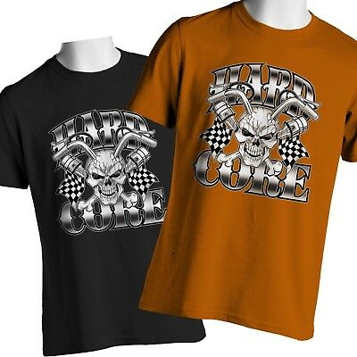 Biker T Shirt Joker Skull Motorcycle Racing On Sale Mens Small to 6X and Tall