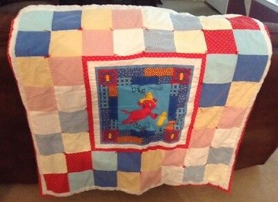 Quilters by the Sea Clifford Big Dog Rescue Baby Toddler Pet Quilt Blanket