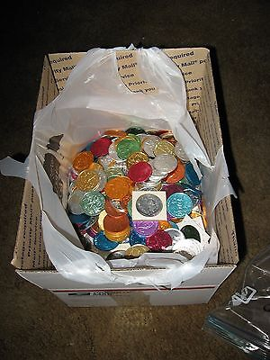 10 pounds mixed mardi gras doubloon aluminum coin new orleans 1960-85 free ship