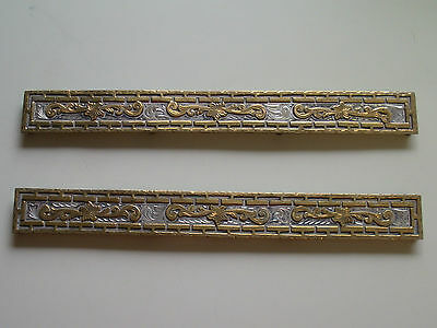"Vintage Marked Sterling Silver W/ Bronze Overlay 9"" Long x 1"" Plates"