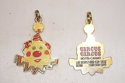 CIRCUS CIRCUS HOTEL - CASINO LAS VEGAS & RENO ~ CLOWN HEAD KEY CHAIN FOB