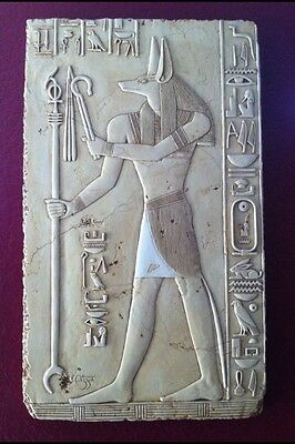 """Large Egyptian Anubis Wall Relief LARGE WALL PLAQUE. 36""""x22""""x1.5"""""""