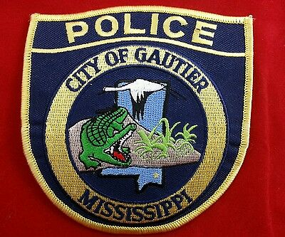 New Gautier City Police Mississippi Patch Alligator