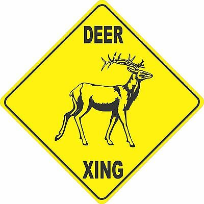 "15.5"" x 15.5"" plastic Deer sign xing Crossings animal wild"