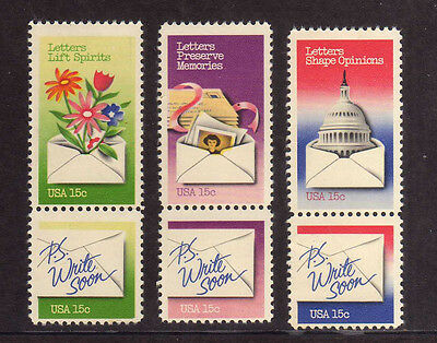 ESTADOS UNIDOS/USA 1980 MNH SC.1805/1810 Letter Writing