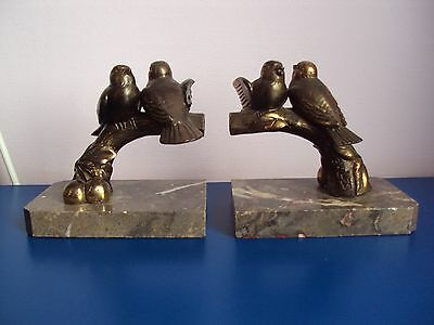 Antique french Art Deco bookends, signed, 1930