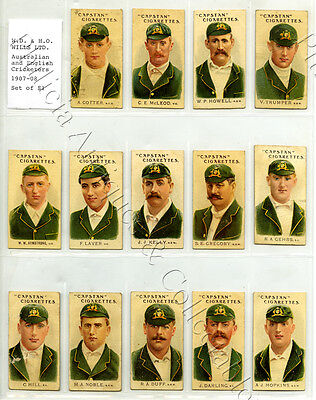 1907-08 Capstan Cigarette Cards Trumper/armstrong/gregory/hill/noble/darling Z56