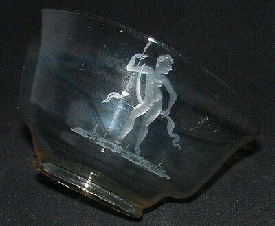 M0003 -A Rare, unsigned dish, c1928 Possibly English depicting Nude Male Warrior