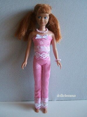 HANDMADE DOLL CLOTHES for vintage SKIPPER Dolls pink top pants jewelry NO DOLL