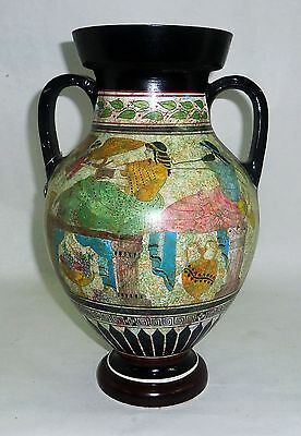 ANCIENT GREEK AMPHORA WITH PANDORA  classic period 600-400 HAND PAINTED