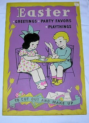 UNUSED VTG 1936 WHITMAN'S EASTER crafts BOOK, GREETINGS, PARTY FAVORS TO CUT OUT