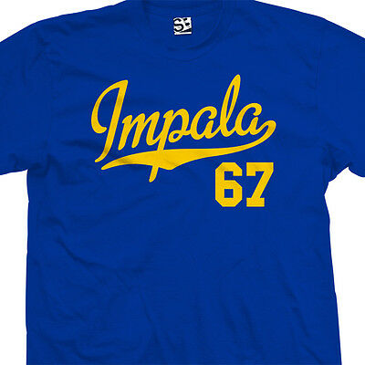 Impala 67 Script Tail Shirt - 1967 Lowrider Classic Car - All Sizes & Colors
