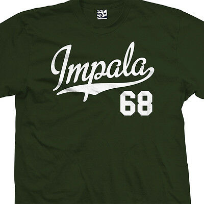 Impala 68 Script Tail Shirt - 1968 Lowrider Classic Car - All Sizes & Colors