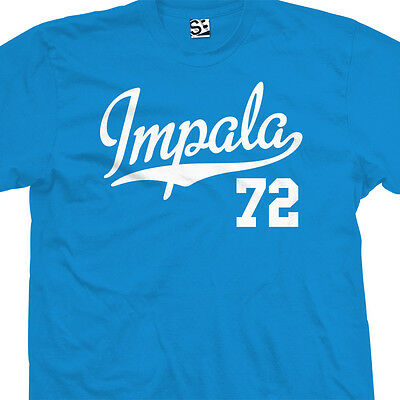 Impala 72 Script Tail Shirt - 1972 Lowrider Classic Car - All Sizes & Colors